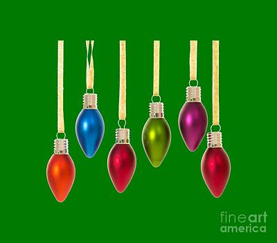 Christmas Baubles Tee Poster by Edward Fielding
