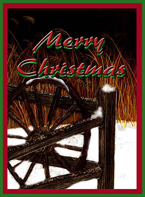 Poster featuring the digital art Christmas Country by Michelle Audas