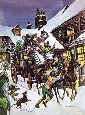 Christmas Day In The Eighteenth Century Poster by Peter Jackson
