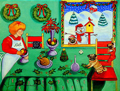 Christmas Harmony Poster by Lyn Cook