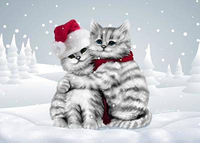 Christmas Hug Poster