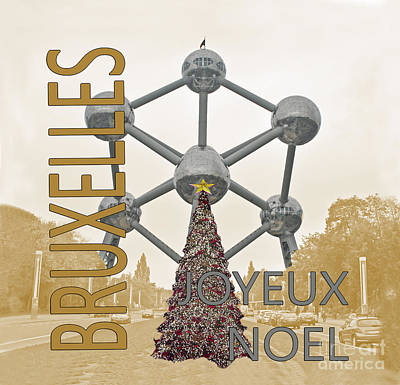 Christmas In Brussels Poster by Jost Houk