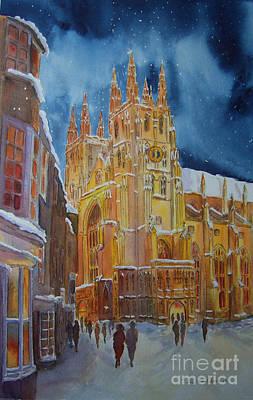 Christmas In Canterbury Poster by Beatrice Cloake