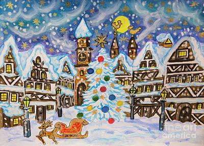 Christmas In Europe Poster by Irina Afonskaya