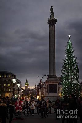 Christmas In Trafalgar Square, London Poster