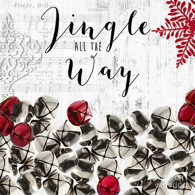 Christmas Jingle Bells  Poster by Mindy Sommers