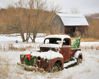 Christmas Lawn Ornament Poster by Lori Deiter