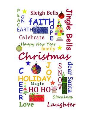 Christmas Message Poster by Kathleen Sartoris