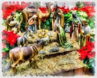 Christmas Nativity Poster by Esoterica Art Agency