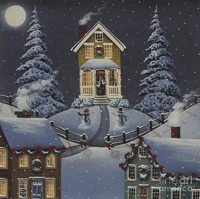 Christmas On Hickory Hill Poster by Catherine Holman