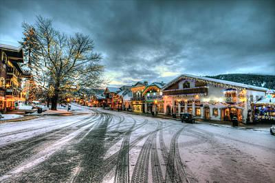 Christmas On Main Street Poster by Brad Granger