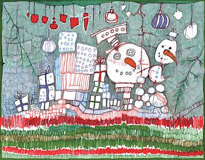 Christmas On The Edge Poster by Sandra Church
