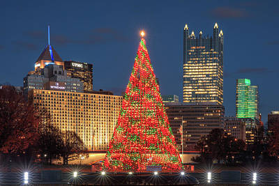 Poster featuring the photograph Christmas  Season In Pittsburgh  by Emmanuel Panagiotakis