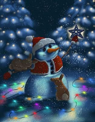 Christmas Season Poster by Veronica Minozzi