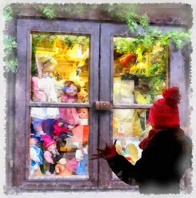 Christmas Shop Window Poster