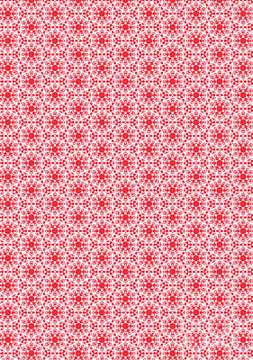 Poster featuring the digital art Christmas Snow Flakes Pattern 2 by Silvia Ganora