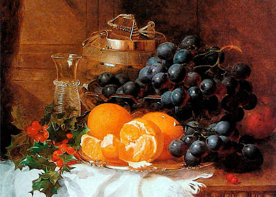 Christmas Still Life By Eloise Harriet Stannard Poster by Sarah Vernon