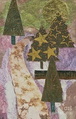 Christmas Stroll Card Poster