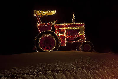 Christmas Tractor   Poster