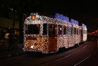 Christmas Tram Poster by Eye Contact