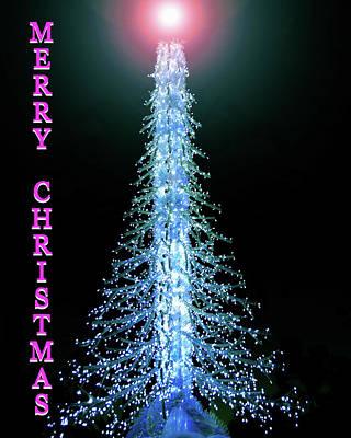 Christmas Tree And Star Custom Card Poster