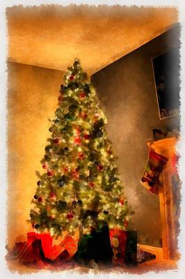 Christmas Tree Poster by Esoterica Art Agency