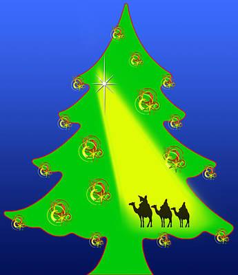 Christmas Tree Nativity Poster