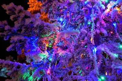 Christmas Tree Night Decoration Poster