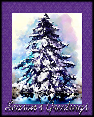 Christmas Tree Poster by Susan Kinney
