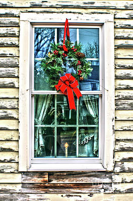 Poster featuring the photograph Christmas Window by Sandy Moulder