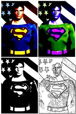 Poster featuring the photograph Christopher Reeve - Our Man Of Steel 1952 To 2004 by Saad Hasnain