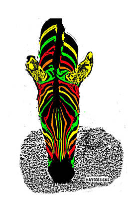 Chromatic Zebra  Poster