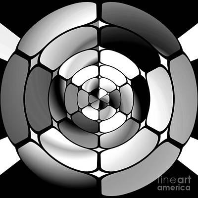 Chromed Black And White Poster