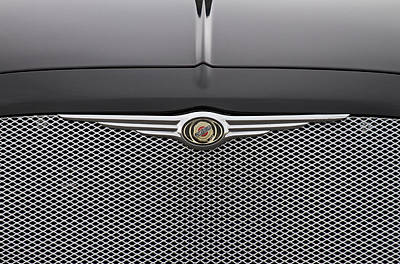 Chrysler 300 Logo And Grill Poster by James BO  Insogna
