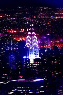 Chrysler Building At Night Poster by Az Jackson
