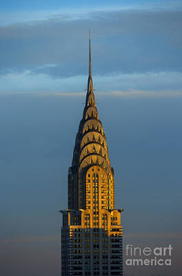 Chrysler Building In The Evening Light Poster by Diane Diederich