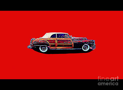 Chrysler Town And Country Convertible Roadster Poster by Richard W Linford