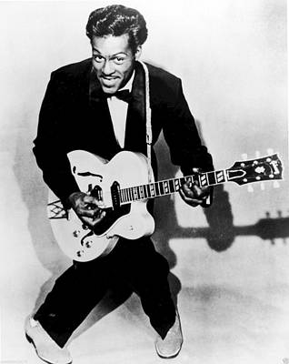 Chuck Berry Poster by Georgia Fowler