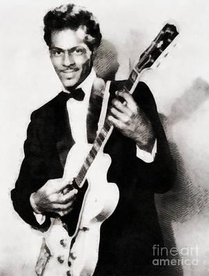Chuck Berry, Vintage Music Legend Poster