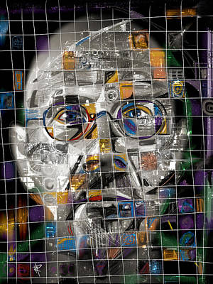 Chuck Close Poster by Russell Pierce