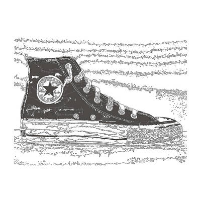 Chuck Taylor High Tops Poster by Michael Lax