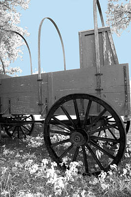Chuck Wagon Against Blue Skys Poster