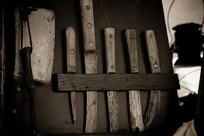 Chuck Wagon Knives Poster by Toni Hopper