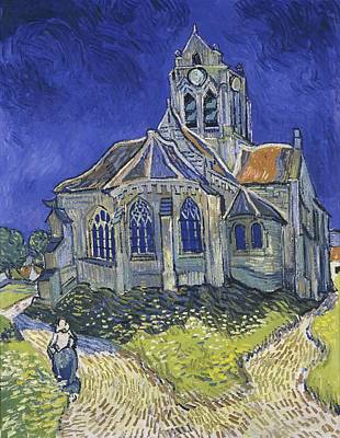 Church At Auvers Poster by Vincent van Gogh