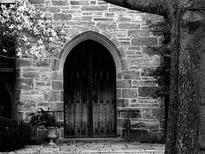 Church Door Poster by Michael L Kimble