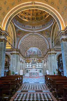 Church In Milan Poster by Joan Carroll