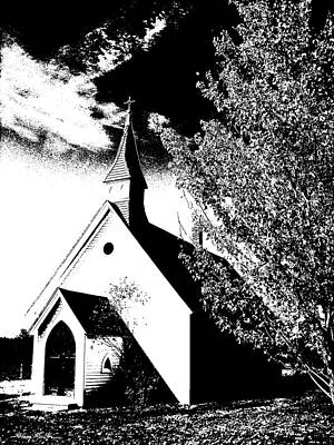 Church In Shadows Poster