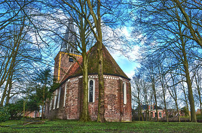 Poster featuring the photograph Church In Winsum by Frans Blok