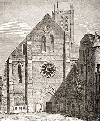 Church Of Abbey Of Sainte Genevieve Poster