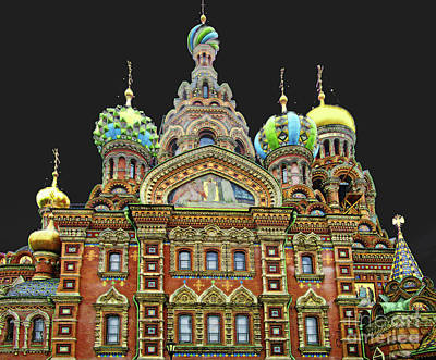 Church Of Our Savior Of Spilled Blood-night Poster